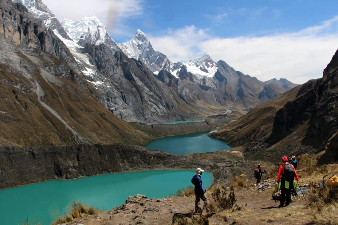 Three lakes viewpoint Huayhuash