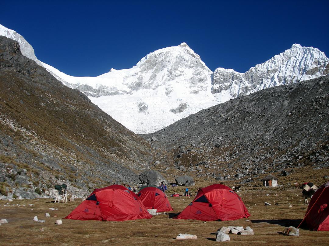Campo base Pisco Cordillera Blanca